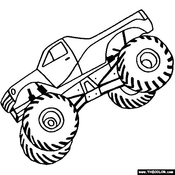 Coloriage et dessins gratuits Monster Truck qui cabre à imprimer