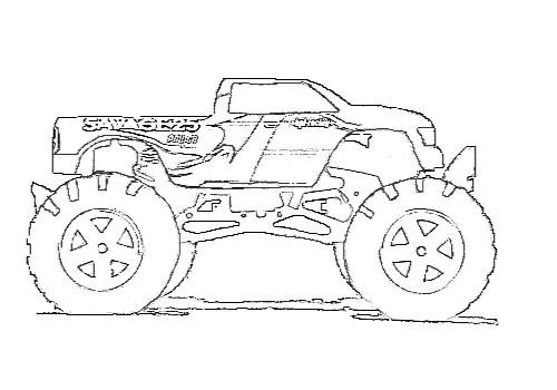Coloriage et dessins gratuits Monster Truck Savage à imprimer