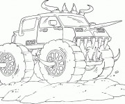 Coloriage Monster Truck stylisé