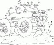 Coloriage et dessins gratuit Monster Truck stylisé à imprimer