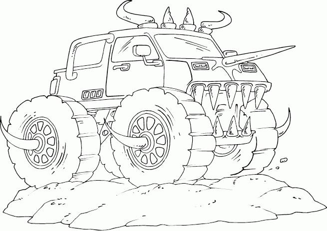 Coloriage et dessins gratuits Monster Truck stylisé à imprimer