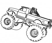Coloriage Monster Truck sur ordinateur