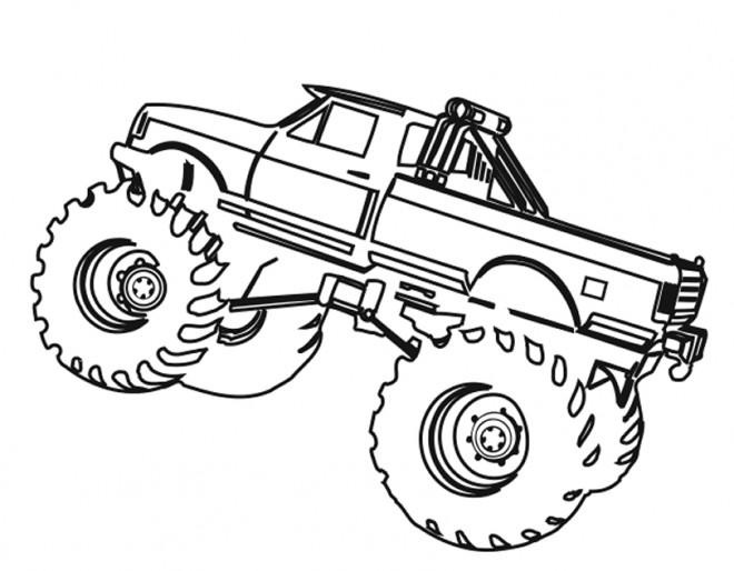 Coloriage et dessins gratuits Monster Truck sur ordinateur à imprimer