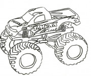 Coloriage Monster Truck T-Maxx