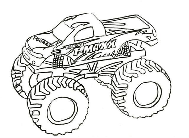 Coloriage et dessins gratuits Monster Truck T-Maxx à imprimer
