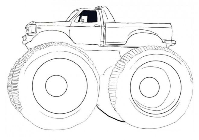 Coloriage et dessins gratuits Monster Truck vecteur à imprimer