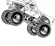 Coloriage Monstre 4 X 4 de course