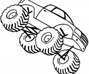 Coloriage Véhicule Monster Truck