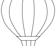 Coloriage Montgolfiere