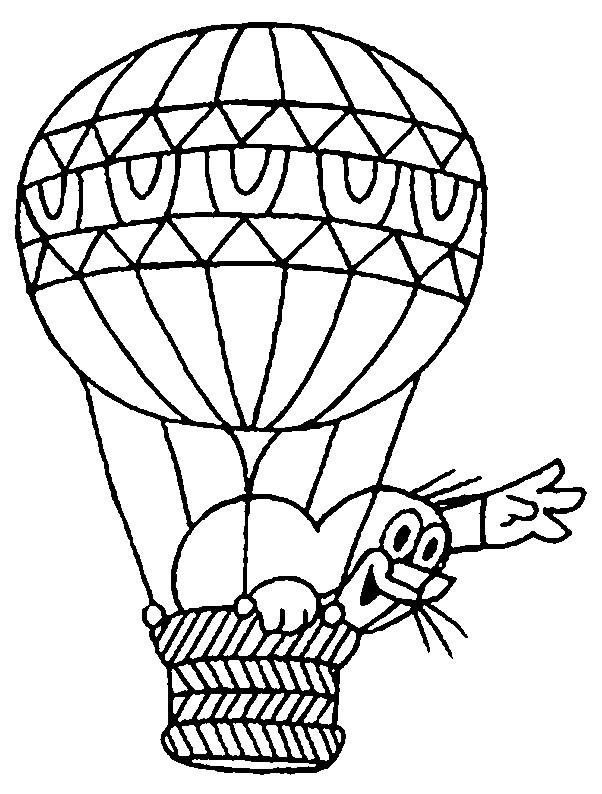 Coloriage et dessins gratuits Animal et Montgolfière pour enfants à imprimer