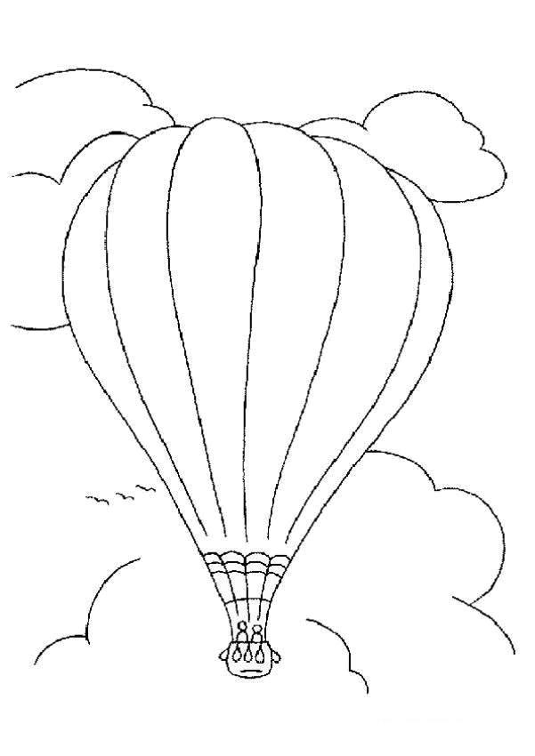 Coloriage et dessins gratuits Grande Montgolfière dans le ciel à imprimer