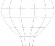 Coloriage Image d'une Montgolfière facile