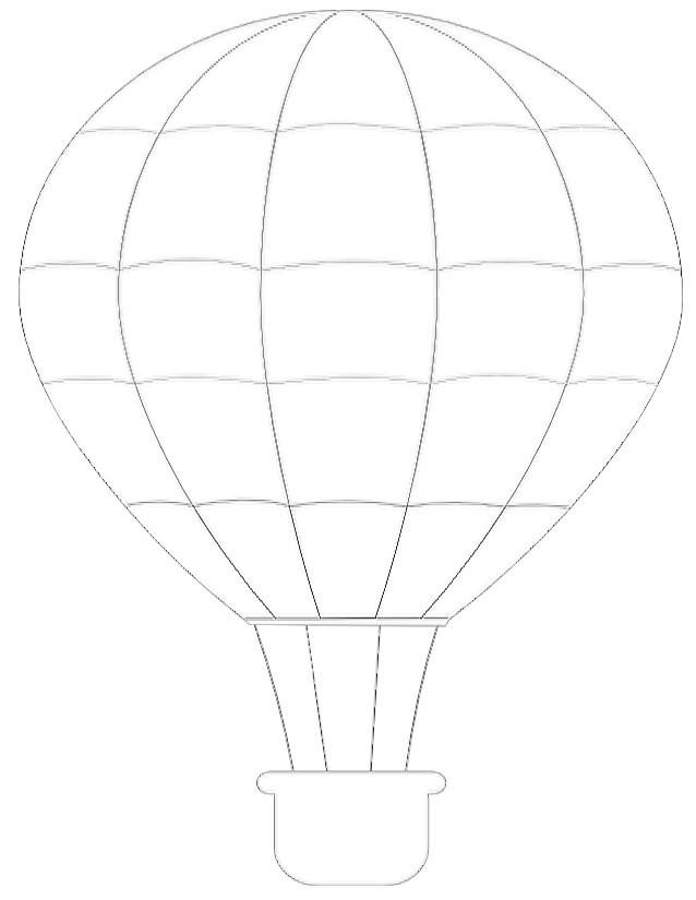 Coloriage et dessins gratuits Image d'une Montgolfière facile à imprimer