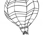 Coloriage Image de Montgolfière sur ordinateur