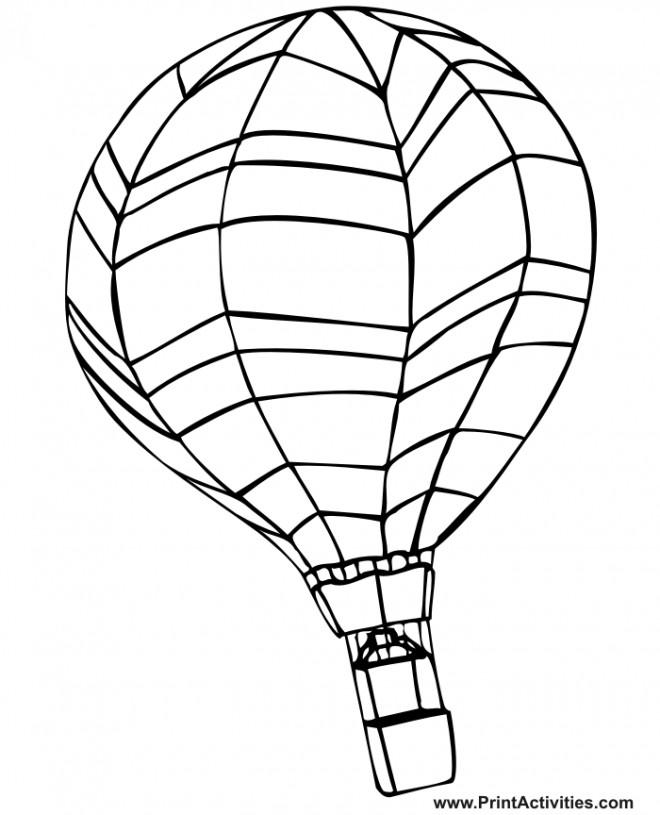 Coloriage et dessins gratuits Image de Montgolfière sur ordinateur à imprimer