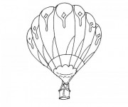 Coloriage Montgolfiere 12