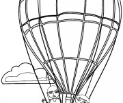 Coloriage Montgolfiere 17