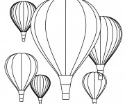 Coloriage Montgolfiere 7
