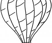 Coloriage Montgolfière au crayon en noir