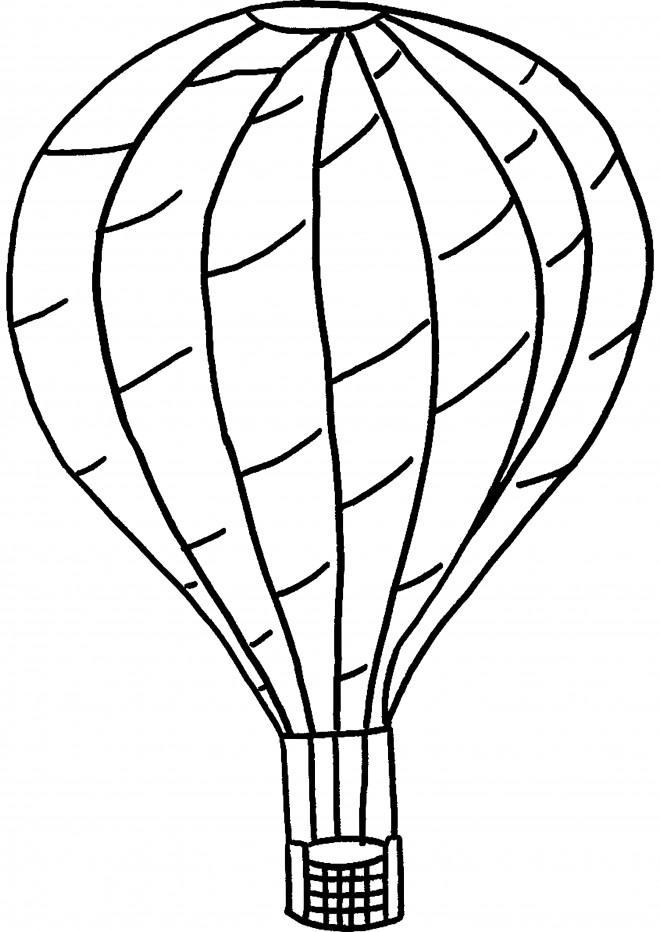 Coloriage et dessins gratuits Montgolfière au crayon en noir à imprimer
