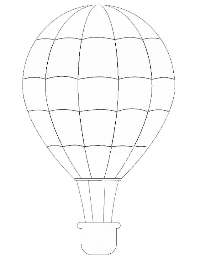 Coloriage et dessins gratuits Montgolfière couleur à imprimer