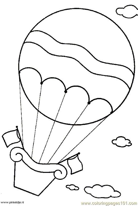 Coloriage et dessins gratuits Montgolfière dans les airs à imprimer