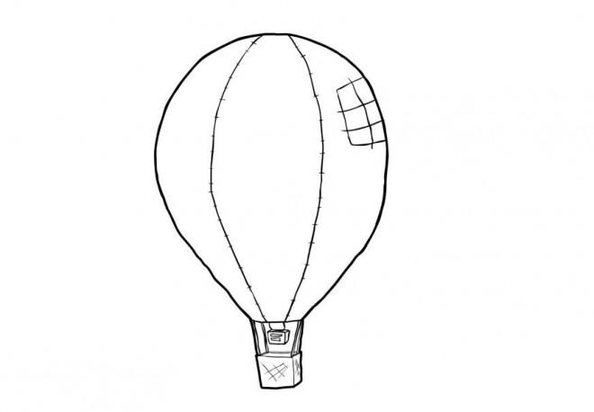 Coloriage et dessins gratuits Montgolfière déchirée à imprimer