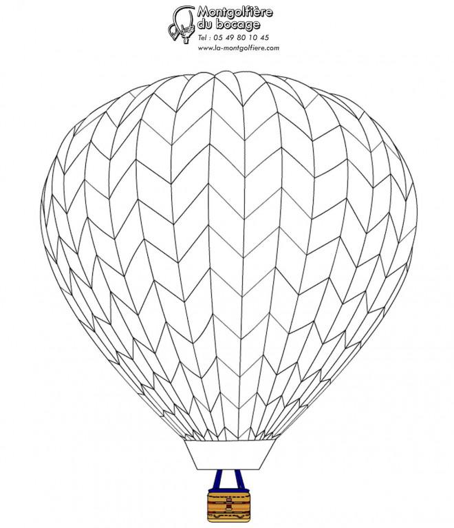 Coloriage et dessins gratuits Montgolfière en bois à imprimer