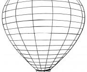 Coloriage et dessins gratuit Montgolfière en ligne à imprimer