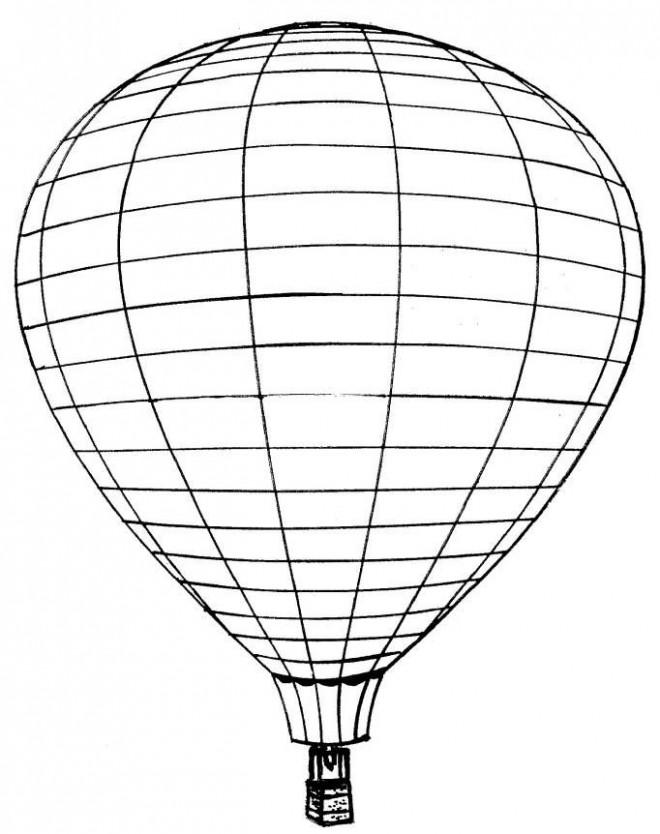 Coloriage et dessins gratuits Montgolfière en ligne à imprimer