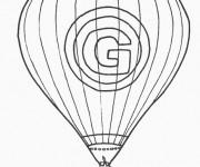 Coloriage Montgolfière et la lettre G