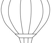 Coloriage et dessins gratuit Montgolfière facile à imprimer