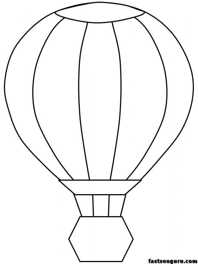 Coloriage et dessins gratuits Montgolfière facile à imprimer