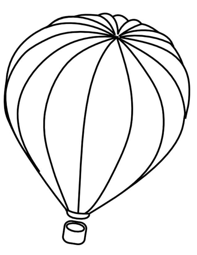 Coloriage et dessins gratuits Montgolfière gonflée à imprimer