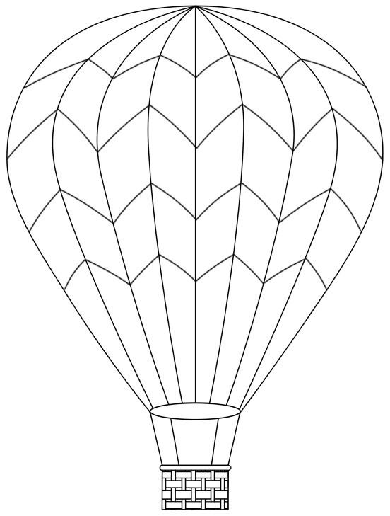 Coloriage et dessins gratuits Montgolfière graphique à imprimer