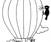 Coloriage et dessins gratuit Montgolfière humoristique à imprimer