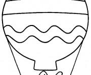 Coloriage et dessins gratuit Montgolfière maternelle à imprimer