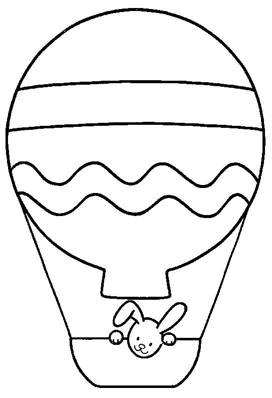 Coloriage et dessins gratuits Montgolfière maternelle à imprimer