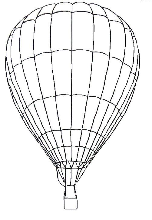 Coloriage et dessins gratuits Montgolfière moyen de transport à imprimer
