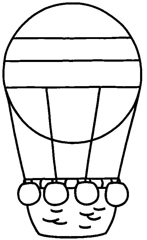 Coloriage et dessins gratuits Montgolfière simple à imprimer