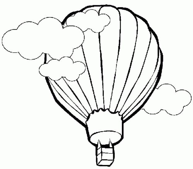 Coloriage et dessins gratuits Montgolfière sous les nuages à imprimer