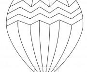 Coloriage et dessins gratuit Montgolfière stylisé à imprimer