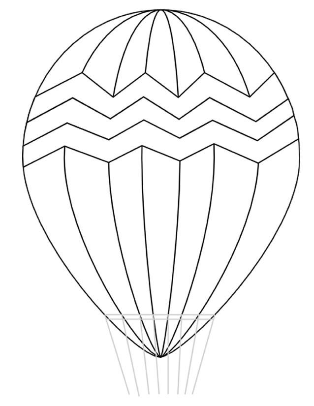 Coloriage et dessins gratuits Montgolfière stylisé à imprimer