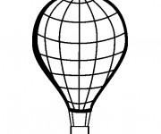 Coloriage Montgolfière vecteur maternelle