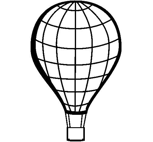 Coloriage et dessins gratuits Montgolfière vecteur maternelle à imprimer