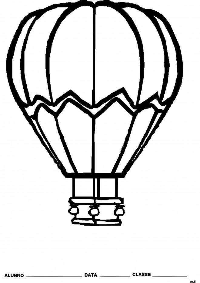 Coloriage et dessins gratuits Peintures de Montgolfières à imprimer