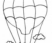 Coloriage et dessins gratuit Un Garçon sur  Montgolfière à imprimer