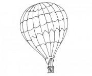 Coloriage et dessins gratuit Une Montgolfière en noir et blanc à imprimer