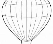 Coloriage Une Montgolfière vectoriel pour découpage