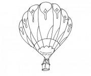 Coloriage et dessins gratuit Vol en Montgolfière à imprimer